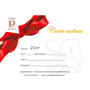 Carte Cadeau Valeur 75€